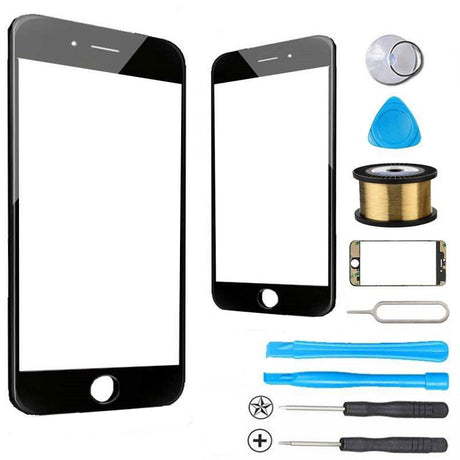 iPhone 7 Glass Screen Replacement Premium Repair Kit - Black