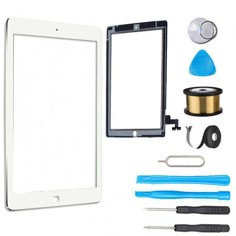 iPad 2 Glass Screen Replacement Digitizer Premium Repair Kit A1395, A1396, A1397 White