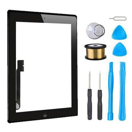 iPad 3 Glass Screen Digitizer Replacement Premium Repair Kit - Black