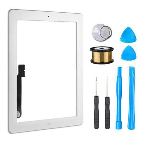 iPad 4 Glass Screen Digitizer Replacement Premium Repair Kit - White