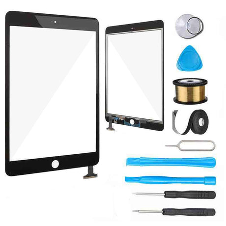 iPad Mini 3 Glass Screen Digitizer Replacement Premium Repair Kit IC Connector - Black