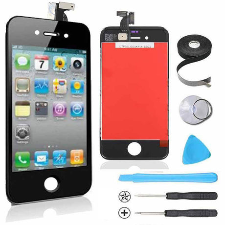 iPhone 4s LCD And Touchscreen Digitizer Assembly Premium Repair Kit - Black