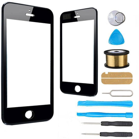 iPhone SE 1st Gen Glass Screen Replacement Premium Repair Kit - Black