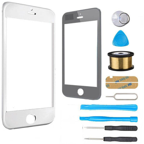 iPhone SE 1st Gen Glass Screen Replacement Premium Repair Kit - White