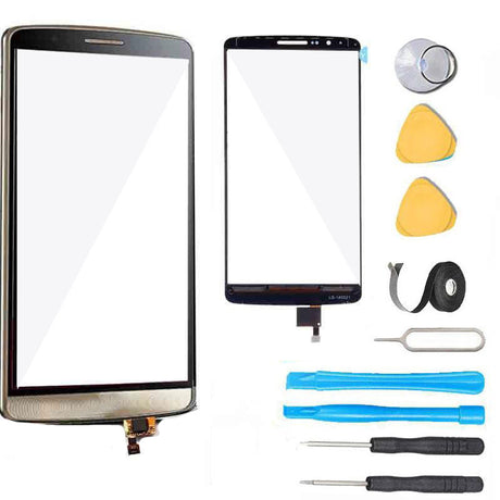 LG G3 Glass Screen Digitizer Replacement Premium Repair Kit - Gold