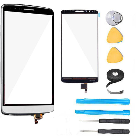 LG G3 Glass Screen Digitizer Replacement Premium Repair Kit - White