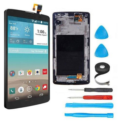 LG G Vista LCD Screen Replacement + Digitizer + Frame + Premium Repair Kit | D631 | VS880  - Black