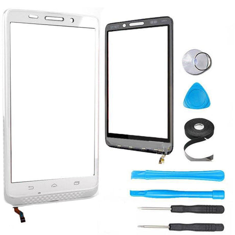 Motorola Droid Ultra and Droid Maxx Glass Screen Digitizer Replacement XT1080 Premium Repair Kit - White