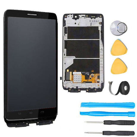 Motorola Droid Ultra & Droid Maxx Screen Replacement + LCD + Digitizer + Frame + Premium Repair Kit  - Black