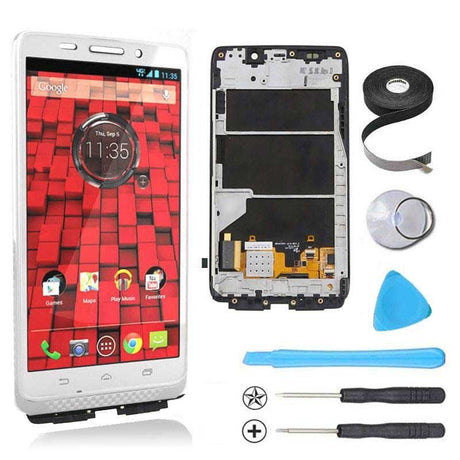 Motorola Droid Ultra and Droid Maxx LCD Screen Replacement and Digitizer Premium Repair Kit  - White
