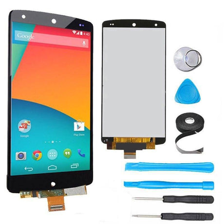 Google Nexus 5 Screen Replacement + LCD + Digitizer Premium Repair Kit + Easy Repair Instructions  - Black