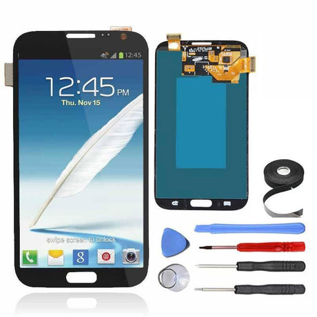 Samsung Galaxy Note 2 LCD Screen and Digitizer Assembly Premium Repair Kit - Black