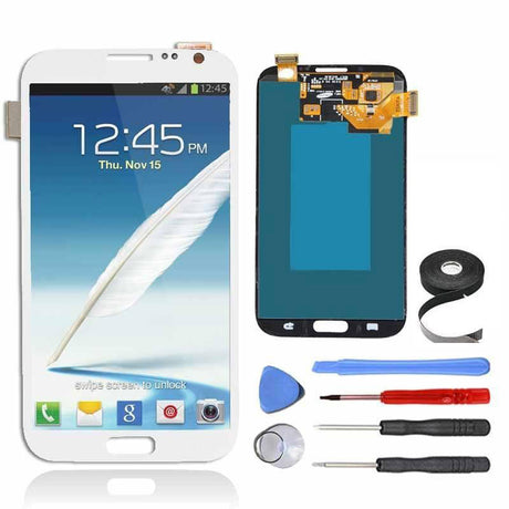 Samsung Galaxy Note 2 LCD Screen and Digitizer Assembly Premium Repair Kit - White