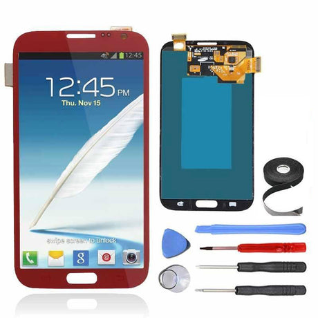 Samsung Galaxy Note 2 LCD Screen and Digitizer Assembly Premium Repair Kit - Red