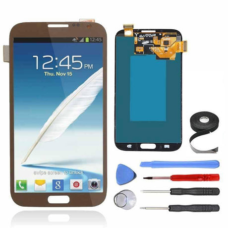 Samsung Galaxy Note 2 LCD Screen and Digitizer Assembly Premium Repair Kit - Brown