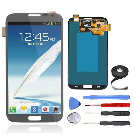Samsung Galaxy Note 2 LCD Screen and Digitizer Assembly Premium Repair Kit - Gray