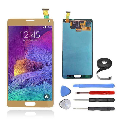 Samsung Galaxy Note 4 LCD Screen and Digitizer Assembly Premium Repair Kit - Gold