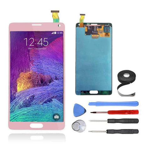 Samsung Galaxy Note 4 LCD Screen and Digitizer Assembly Premium Repair Kit - Pink