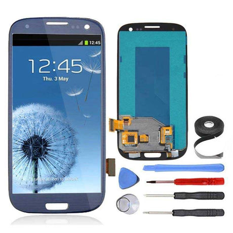 Samsung Galaxy S3 LCD Screen and Digitizer Assembly Premium Repair Kit - Pebble Blue