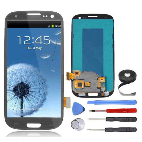 Samsung Galaxy S3 LCD Screen and Digitizer Assembly Premium Repair Kit - Gray