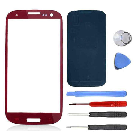 Samsung Galaxy S3 Screen Replacement Premium Repair Kit - Red