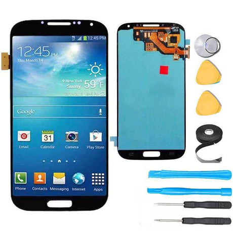 Samsung Galaxy S4 Screen Replacement + LCD + Touch Digitizer Assembly +Frame Premium Repair Kit - Black