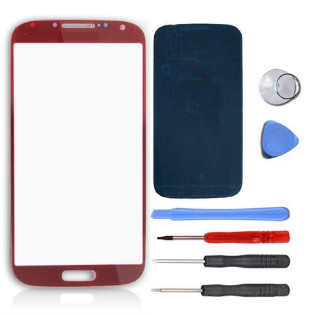 Samsung Galaxy S4 Glass Screen Replacement Premium Repair Kit - Red