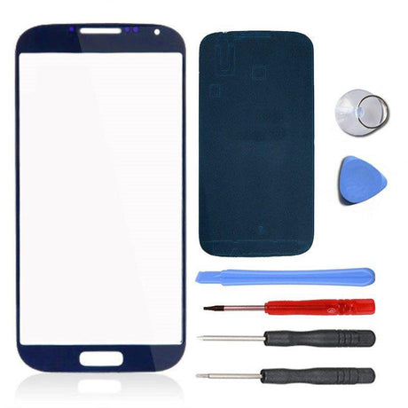 Samsung Galaxy S4 Glass Screen Replacement Premium Repair Kit - Navy Blue