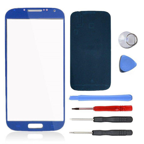 Samsung Galaxy S4 Glass Screen Replacement Premium Repair Kit - Electric Blue