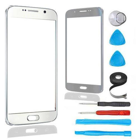 Samsung Galaxy S6 Glass Screen Replacement Premium Repair Kit - White