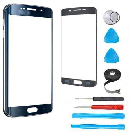 Samsung Galaxy S6 Edge Plus Glass Screen Replacement Premium Repair Kit - Dark Blue