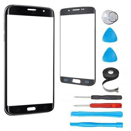 Samsung Galaxy S6 Edge Plus Glass Screen Replacement Premium Repair Kit -Black
