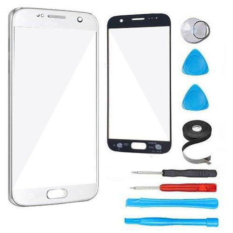 Samsung Galaxy S7 Glass Screen Replacement Premium Repair Kit - Silver
