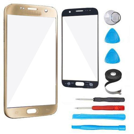 Samsung Galaxy S7 Glass Screen Replacement Premium Repair Kit - Gold