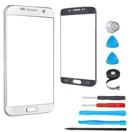 Samsung Galaxy S7 Edge Glass Screen Replacement Premium Repair Kit - Silver