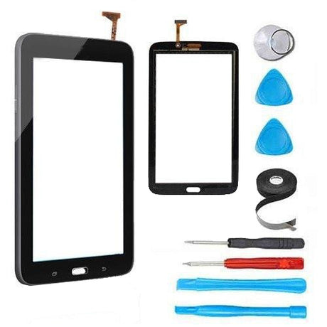 "Samsung Galaxy Tab 3 (7"") Glass Screen  Replacement + Touch Digitizer Premium Repair Kit (Wifi Version No Speaker hole) - Black"