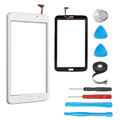 "Samsung Galaxy Tab 3 (7"") Glass Screen and Touch Digitizer Replacement Premium Repair Kit (With Speaker hole) - White"