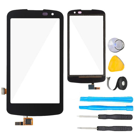 LG Optimus Zone 3 Glass Screen Replacement + Touch Digitizer Premium Repair Kit  VS425 VS425PP- Black
