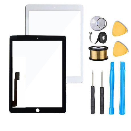 iPad 4 Screen Replacement Glass +Touch Digitizer Premium Repair Kit - Black or White