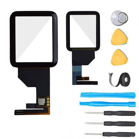 Apple Watch SERIES 1 (38MM) Glass Screen Replacement + Touch Digitizer Replacement Premium Repair Kit 1st Gen- Black