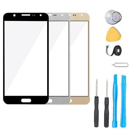 Samsung Galaxy J7 Perx Glass Screen Replacement Premium Repair Kit 2017 Boost Mobile J727P - Black White Gold