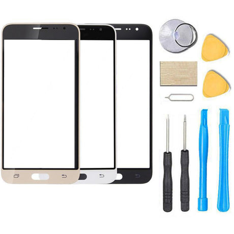 Samsung Galaxy J3 J36 J36V J3V Glass Screen Replacement Repair Kit 2016 J320v J320VPP j320ZN j320r4 J320FN- Black / White / Gold