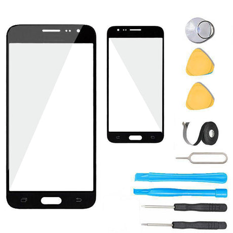 Samsung Galaxy J3 Glass Screen Replacement Premium Repair Kit J320 J327- Black