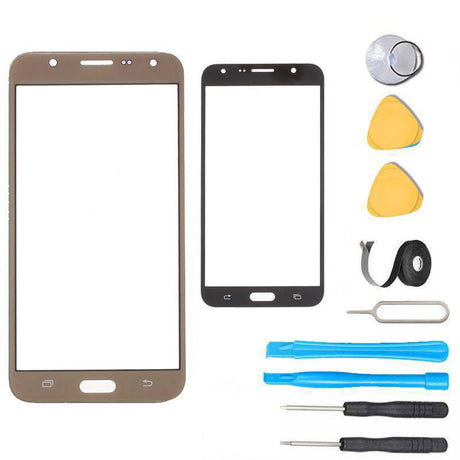Samsung Galaxy J7 Glass Screen Replacement Premium Repair Kit J727 J700- Gold