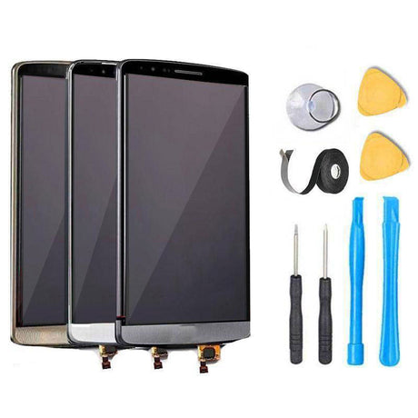 LG G3 LCD Screen Replacement and Digitizer Premium Repair Kit - Black Gold White