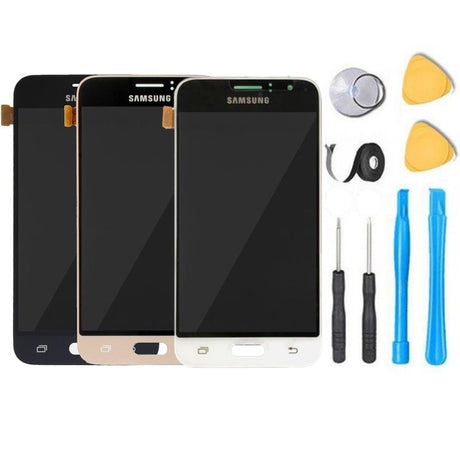 Samsung Galaxy Express 3 Screen Replacement LCD Digitizer Assembly Premium Repair Kit J120A- Black/Gold/White