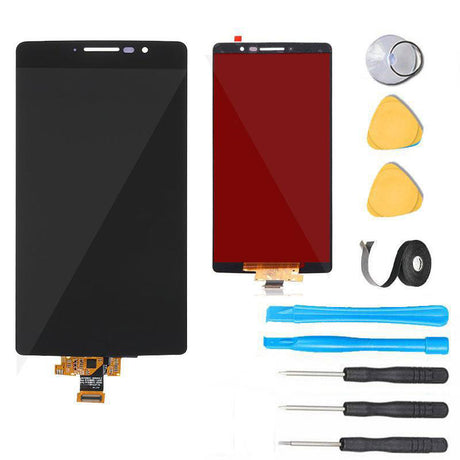 LG G Stylo Screen Replacement + LCD + Touch Digitizer + Big IC Premium Repair Kit LS770 H631 H635 H540  - Black
