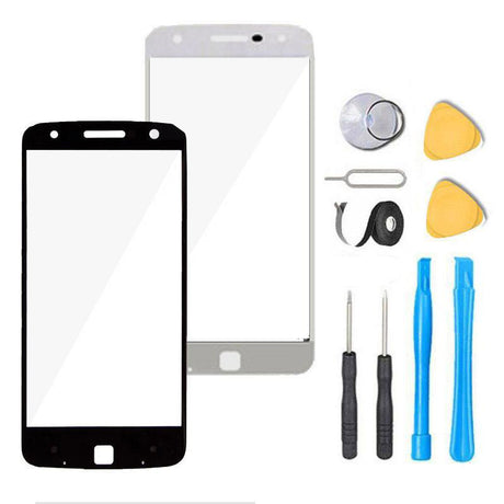 Motorola Moto Z Play Droid Glass Screen Replacement Premium Repair Kit XT1635   - Black / White