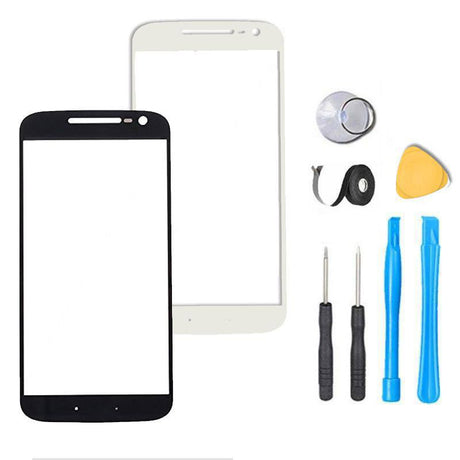 Motorola Moto G4 Glass Screen Replacement Premium Repair Kit G 4th - XT1620 XT1621 XT1622 XT1625  - Black / White