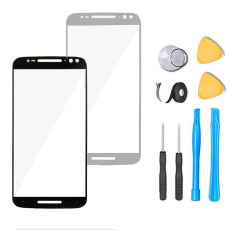 Moto X Pure Edition Glass Screen Replacement Premium Repair Kit XT1570 XT1572 XT1575   - Black / White